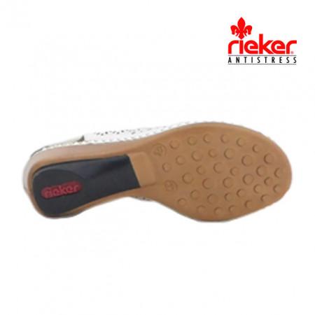 Sandale Rieker 66159, culoare alba