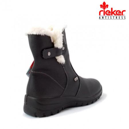 Cizme Rieker, impermeabile, blana naturala, culoare neagra (Z7182)