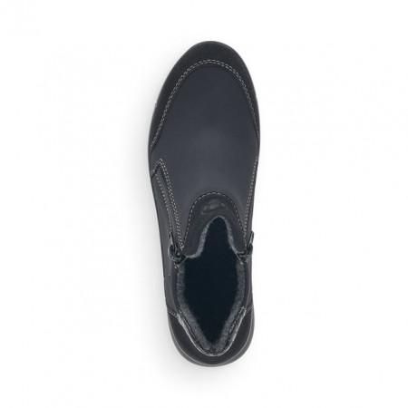 Ghete Rieker N2192, impermeabile, culoare neagra