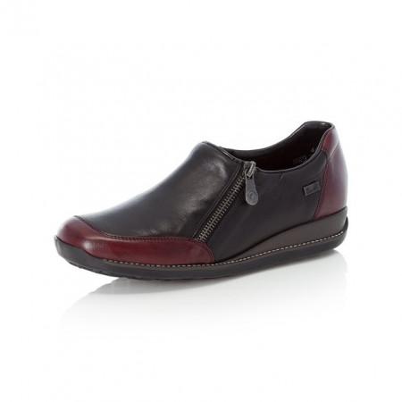 Pantofi Rieker 44294, impermeabili, culoare negru cu bordo