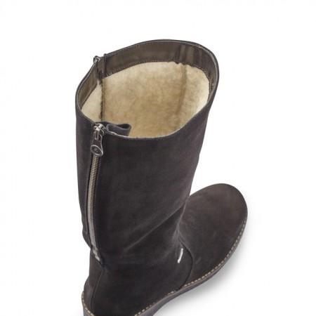 Cizme Rieker, impermeabile, blana naturala, culoare neagra (Y4651)