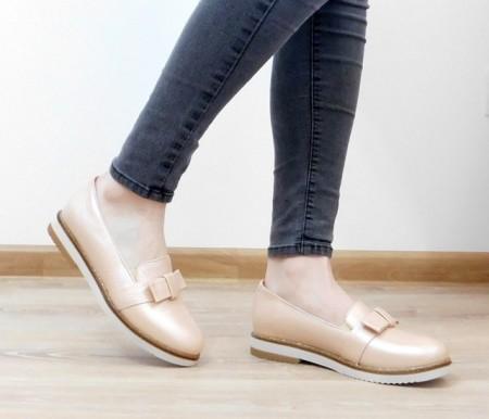 Pantofi C191, culoare roz pudra