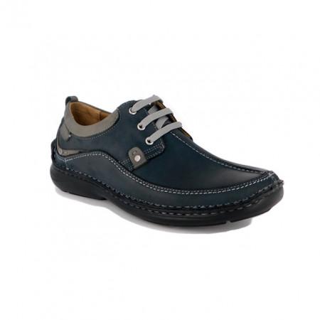 Pantofi G317, culoare albastru inchis, fabricati in Romania