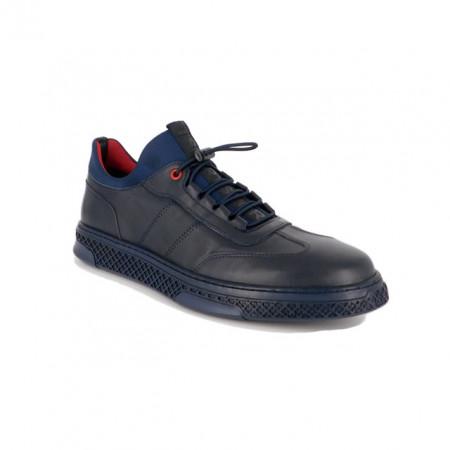 Pantofi Goretti, model 3673, culoare albastru inchis