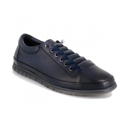 Pantofi Goretti, model 492, culoare albastru inchis