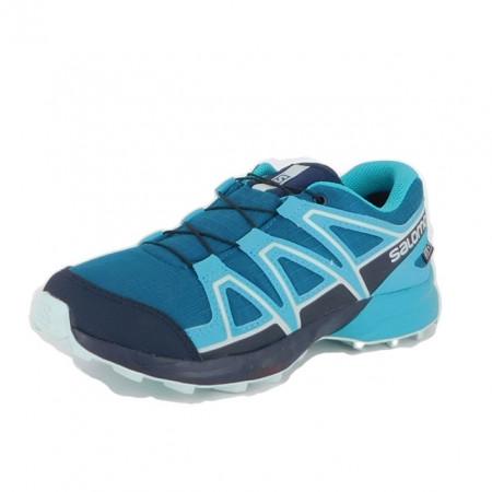 Pantofi Salomon Speedcross Junior, impermeabili, culoare albastra