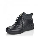 Ghete Rieker L7148, impermeabile, lana naturala, culoare neagra