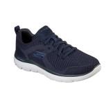 Pantofi Skechers Brisbane, talpa din spuma cu memorie, culoare albastru inchis