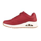 Pantofi Skechers Uno, brant din spuma cu memorie, talpa cu perna de aer, culoare burgund