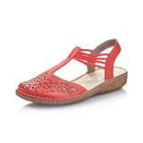 Pantofi sanda Rieker, model M0978, culoare rosie