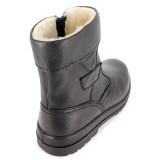 Cizme Otter, model 27758, blana naturala, culoare neagra