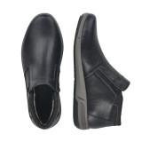 Ghete Rieker, model B0984, impermeabile, blana naturala, culoare neagra