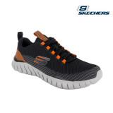 Pantofi Skechers Overhaul, talpa din spuma cu memorie, culoare neagra
