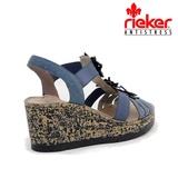 Sandale Rieker, model V7673, culoare albastru inchis
