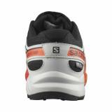 Pantofi Salomon Speedcross Junior, impermeabili, culoare negru cu gri