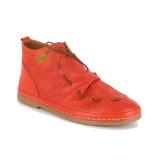Ghete Anna Viotti, model 115, pentru primavara-vara, culoare rosie