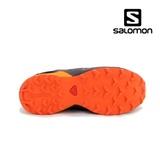 Pantofi Salomon Speedcross Junior, impermeabili, culoare negru cu portocaliu