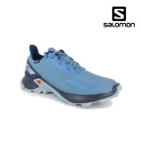 Salomon Alphacross Junior, impermeabili, culoare albastra