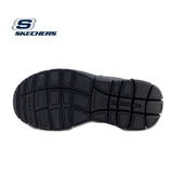 Sandale Skechers Flex Advantage, talpa cu spuma cu memorie, culoare neagra