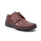 Pantofi G103, talpa germana Hovercraft, culoare maro-inchis
