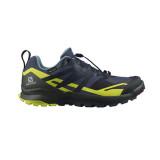 Pantofi Salomon XA Rogg 2, impermeabili, Gore-tex, culoare albastru cu galben