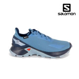 Salomon Alphacross Junior, impermeabili, culoare albastra