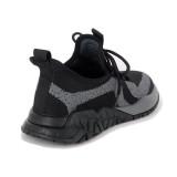 Pantofi sport Otter, model 3013, culoare negru cu gri