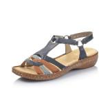 Sandale Rieker, model 62857, culoare albastru cu maro