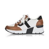 Pantofi sport Rieker, model N6303, culoare alb cu maro
