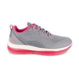 Pantofi Skechers Bobs Gamma, talpa din spuma cu memorie, culoare gri cu roz