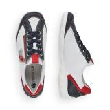 Pantofi sport Remonte, model 3421, culoare alba cu albastru si rosu