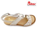 Sandale Rieker 60867, culoare crem