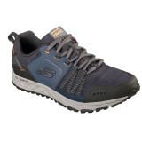 Pantofi Skechers Escape Plan, talpa din spuma cu memorie, culoare albastra cu gri