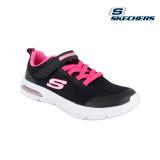 Pantofi Skechers, model Dyna-Air, talpa din spuma cu memorie, culoare negru cu roz