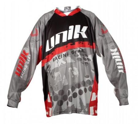 Tricou (bluza) cross-enduro Unik Racing model MX01 culoare: negru/rosu