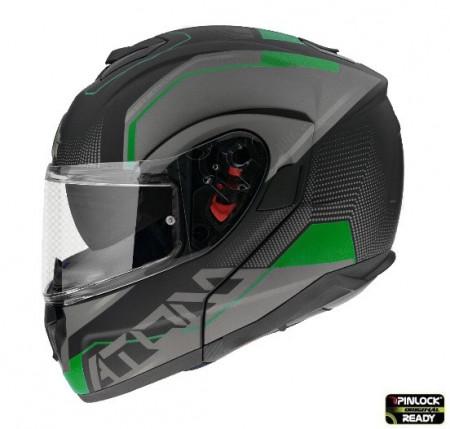 Casca moto flip-up MT Atom SV Quark A6 verde fluor mat