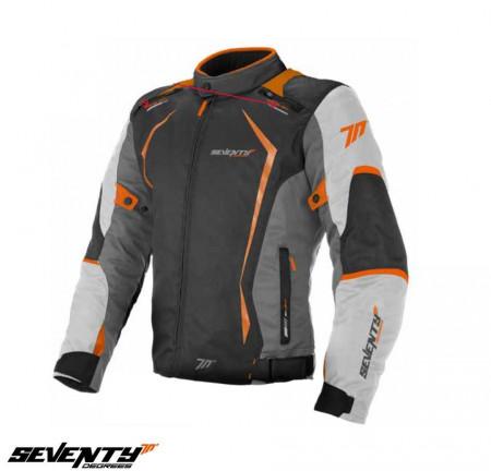 Geaca (jacheta) motociclete barbati Racing Seventy vara/iarna model SD-JR47 culoare: gri/portocaliu