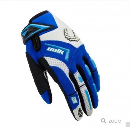 Manusi motociclete cross-enduro unisex Unik Racing culoare: albastru