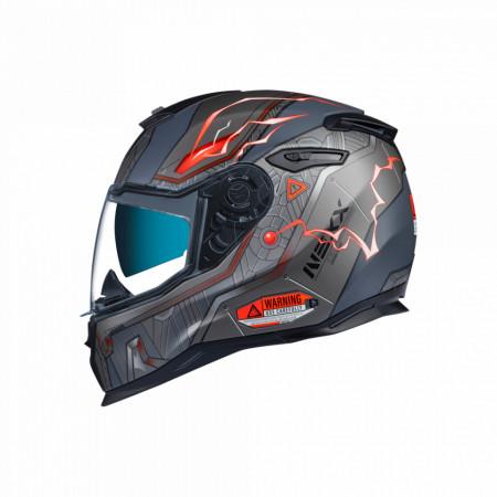 Casca moto integrala Nexx SX.100 Gigabot Grey/Red