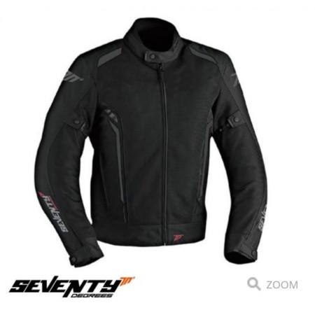 Geaca (jacheta) motociclete femei Touring vara Seventy model SD-JT36 culoare: negru/gri