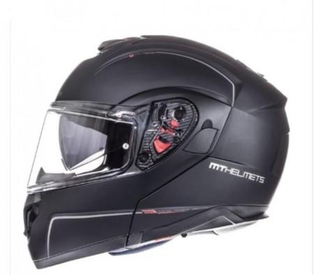 Casca moto Flip-up MT Atom SV negru mat