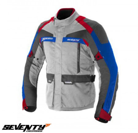 Geaca (jacheta) motociclete barbati Racing Seventy vara/iarna model SD-JT43 culoare: alb/rosu/albastru