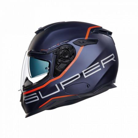 Casca moto integrala Nexx SX.100 Superspeed Blue/Red