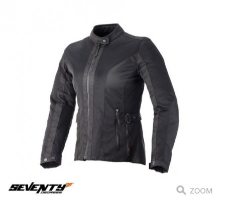 Geaca (jacheta) motociclete femei Urban vara Seventy model SD-JC34 culoare: negru