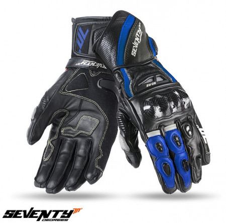 Manusi piele racing Seventy model SD-R2 negru/albastru