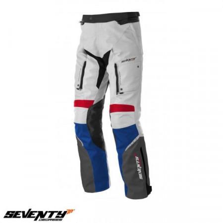 Pantaloni motociclete Touring unisex Seventy vara/iarna model SD-PT3 culoare: alb/rosu/albastru