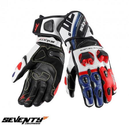 Manusi barbati racing vara Seventy model SD-R12 negru / albastru