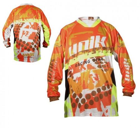 Tricou (bluza) cross-enduro Unik Racing model MX01 culoare: portocaliu fluor