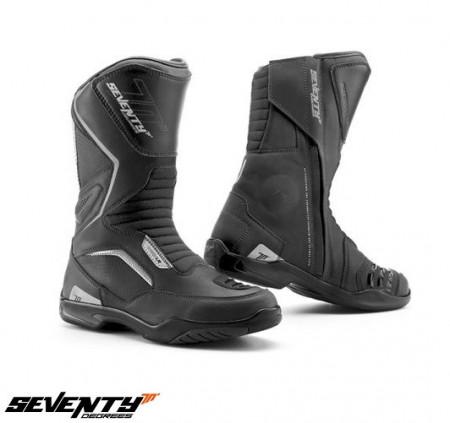 Ghete moto ( cizme ) Touring Unisex Seventy model SD-BT2 culoare: negru