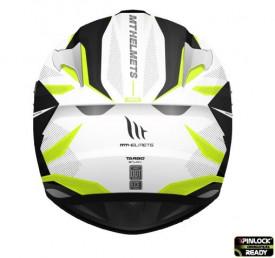 Casca integrala motociclete MT Targo Enjoy D3 galben fluor